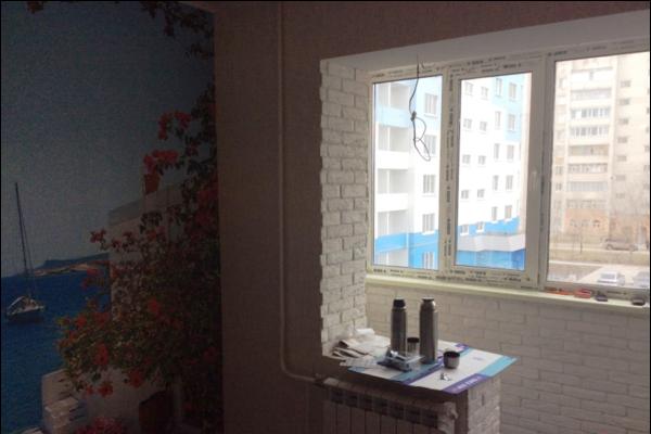 Это до ремонта кухня с балконом