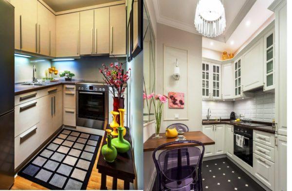 Примеры дизайна маленькой кухни без окна