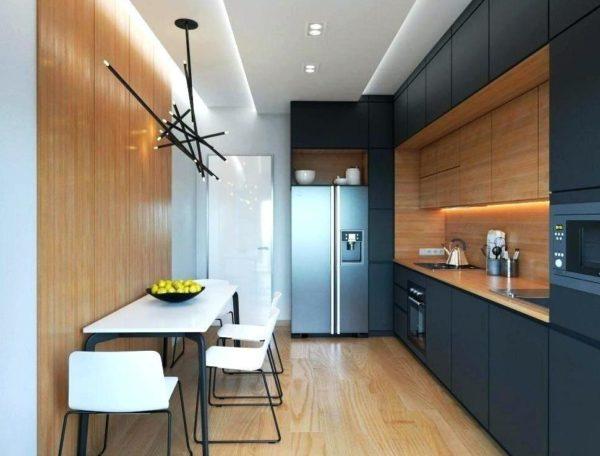 Пол на кухне в стиле хае-тек долкен сочетаться со всеми деталями интерьера