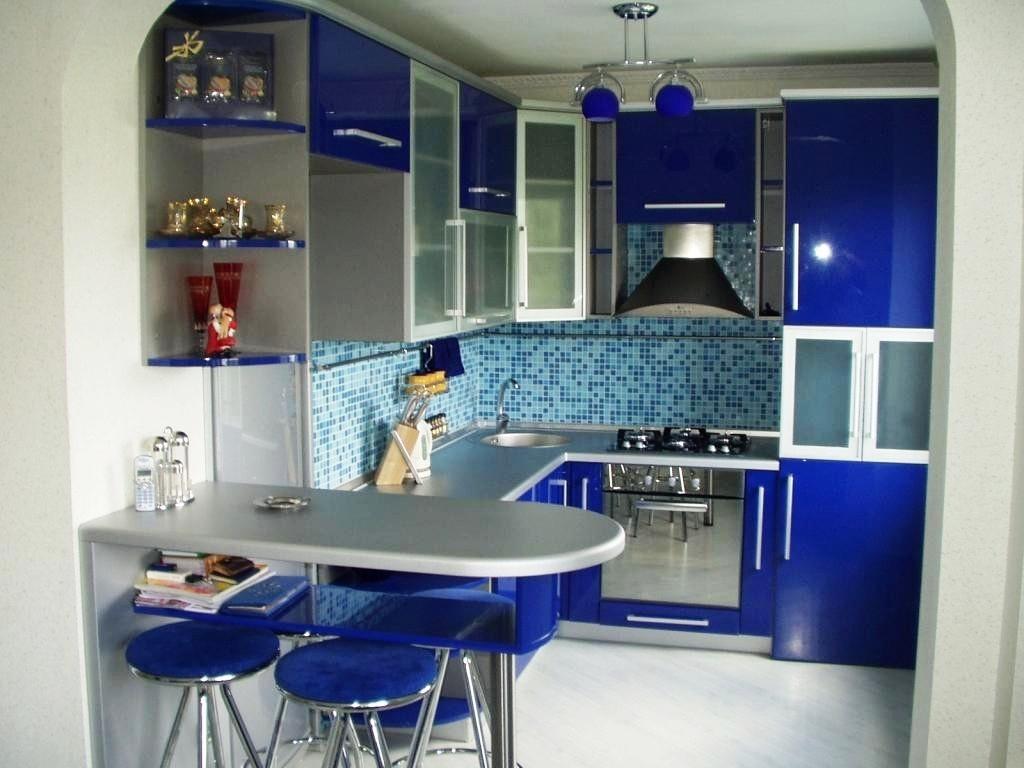 дотронулся дизайн кухни в синих тонах фото зависимости