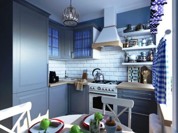 Фото дизайна кухни площадью 6м кв в стиле прованс