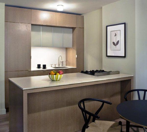 Маленькая кухня в стиле минимализм не должна иметь ни одной лишней детали