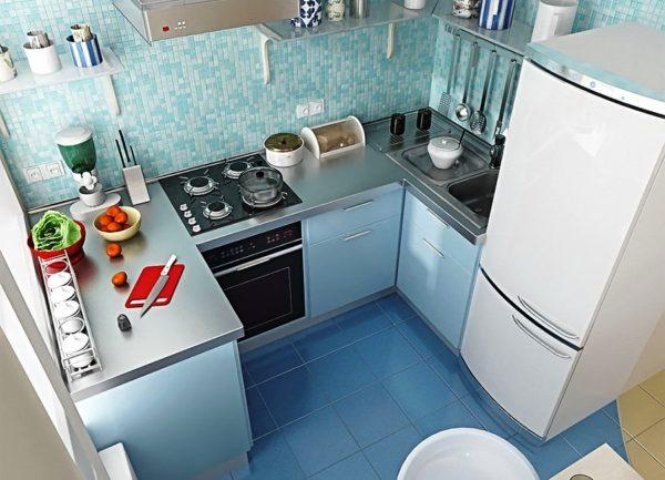 Фото дизайна маленькой кухни 6 м кв.