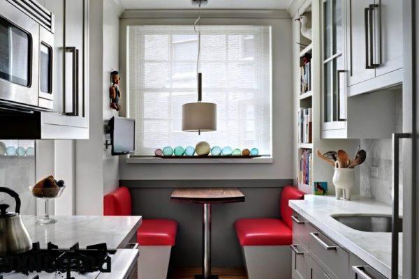 В данной планировке также можно разместить обеденную зону у окна