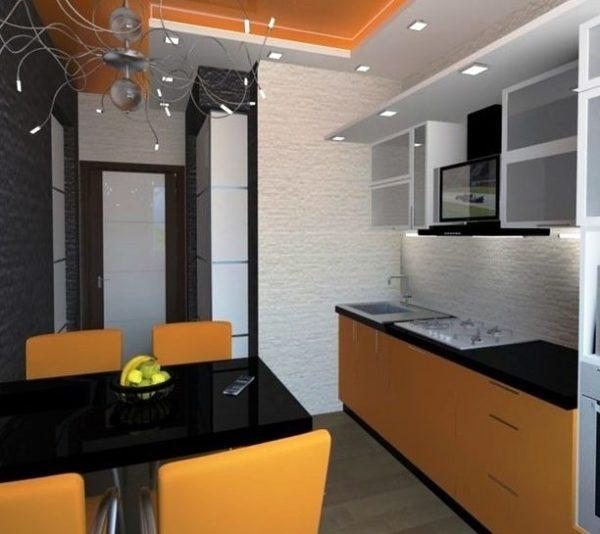Стиль минимализм позволяет создать комфортное пространство, используя только необходимые предметы кухонного гарнитура в малогабаритной кухне частного дома
