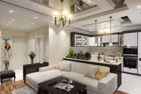 кухня совмещенная с гостиной дизайн фото