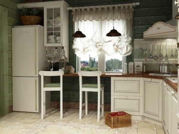 Кухня в классическом стиле выполняется в светлых тонах