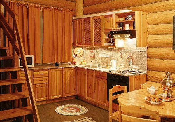 Дизайн интерьера кухни на даче в стиле эко