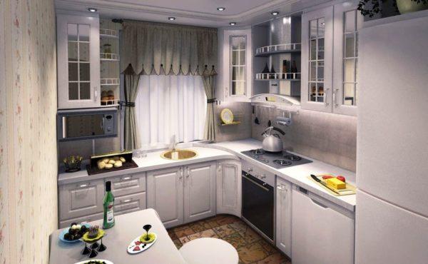 Фото дизайна небольшой кухни с окном в уютном стиле прованс