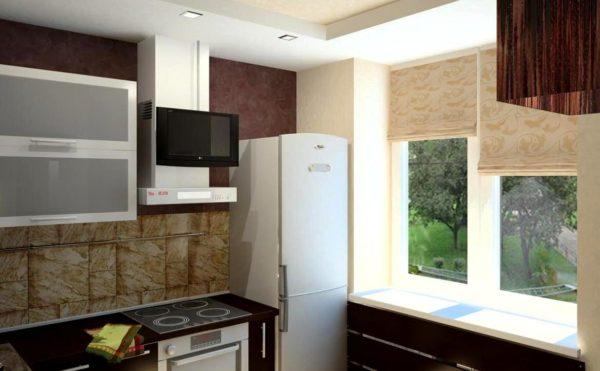 Холодильник - важный элемент для кухни, в нем хранится все необходимое и все самое вкусное, его тоже как-то нужно разместить на маленькой кухне в хрущевке