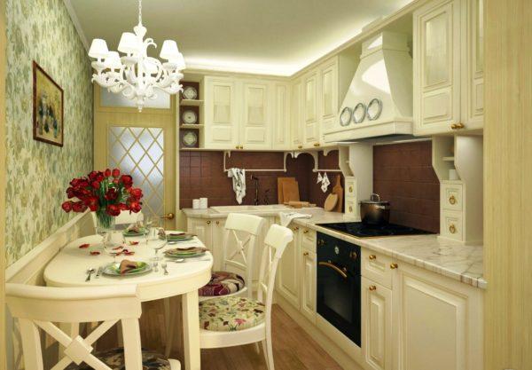 Фартук на кухне в стиле прованс должен гармонично вписываться в интерьер