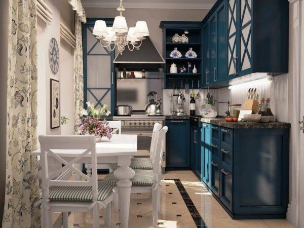 Дизайн интерьера небольшой кухни в стиле прованс — поистине прекрасное решение и для городской квартиры и для частного дома