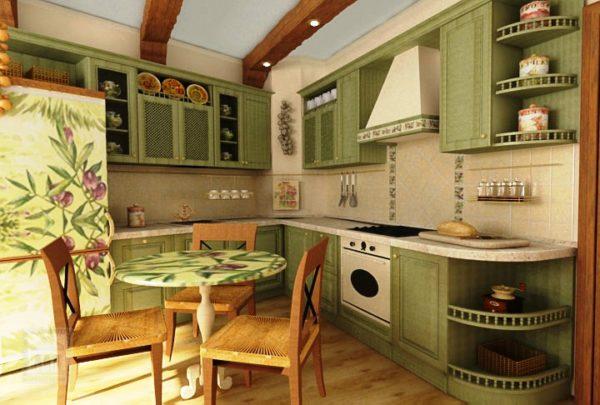 Доски на потолке - один из вариантов отделки в деревенском стиле прованс
