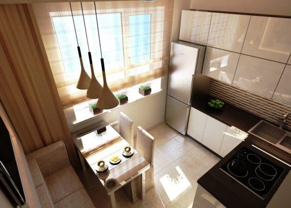Фото дизайн проекта маленькой кухни
