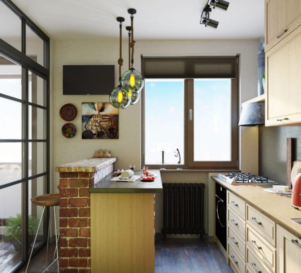 Для интерьера кухни площадью 2х2 метра стиль хай-тек будет одним из лучших вариантов