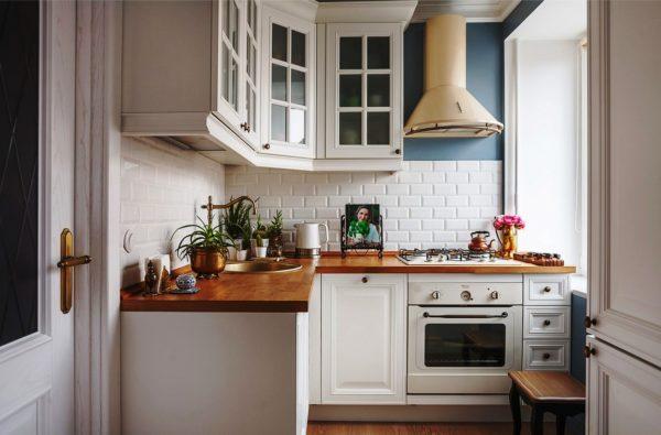 Фото дизайна кухни с габаритами 3х3 метра в стиле прованс
