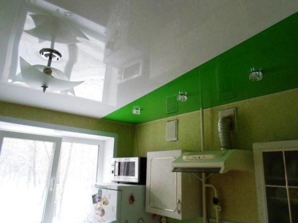 Цвет натяжного покрытия зависит от высоты потолка