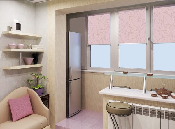 Кухня, объединенная с балконом добавит не только площади, но и затрат