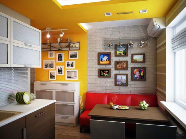 Эко кожа - наиболее подходящий вариант обивки для кухонного дивана
