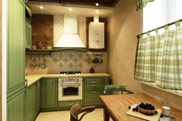 На фото один из вариантов красивого дизайна маленькой кухни