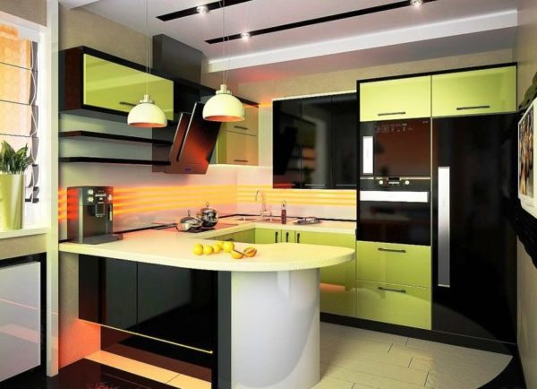 Фото современного дизайна маленькой кухни
