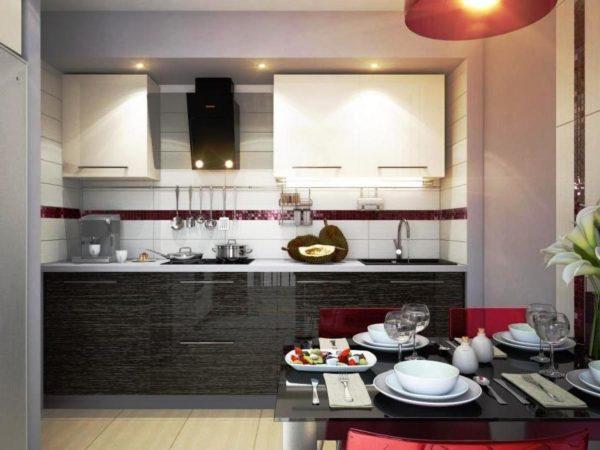 В современном дизайне малогабаритной кухни освещению нужно уделить особое внимание