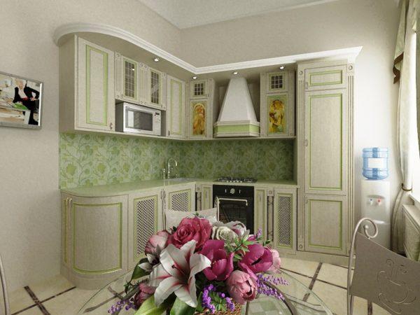 Белые стены увеличивают пространство тесной кухни