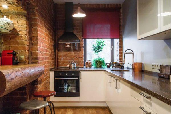 Малогабаритная кухня в стиле лофт - это необычно и интересно