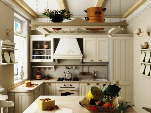 Кухня в стиле кантри всегда поднимет настроение