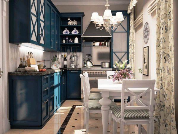 На малогабаритной кухне в стиле прованс будет тепло и по-домашнему уютно
