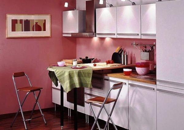 Барная стойка -трансформер - отличной решение для кухни с малой площадью