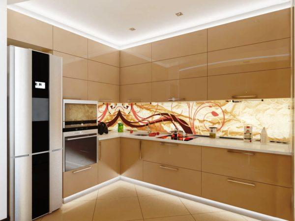Кухонный гарнитур до потолка увеличит пространство маленького помещения