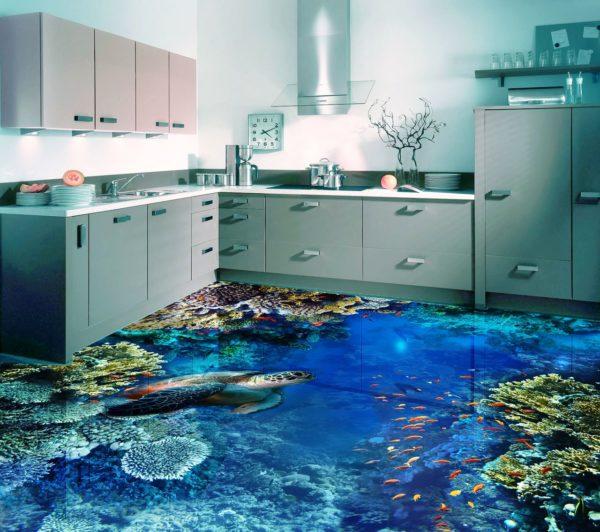 Благодаря 3D эффекту, яркости красок и отсутствию швов, визуально расширяет пространство и как нельзя лучше подходит для малогабаритной кухни, идеально вписываясь в современный интерьер