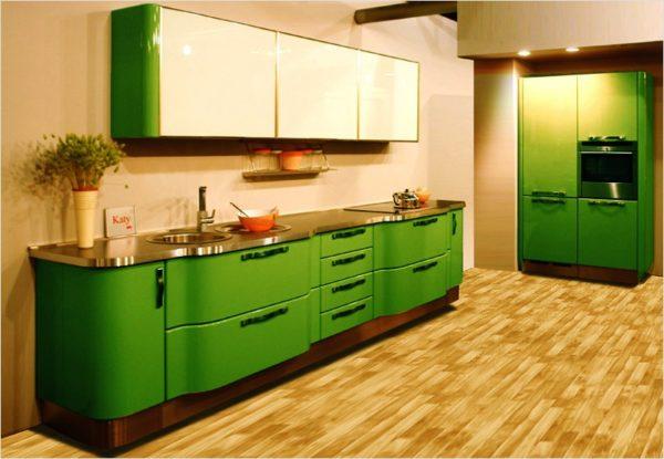 Линолеум для пола на маленькой кухне
