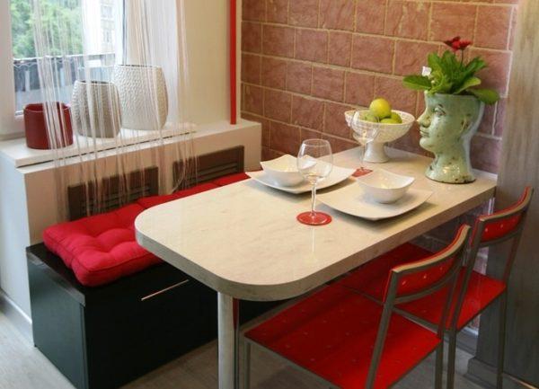 Стол барная стойка на маленькой кухне 4