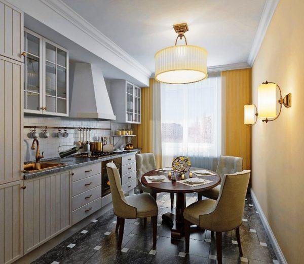 Круглый стол отлично впишется в интерьер любого стиля — от классики до хай-тека