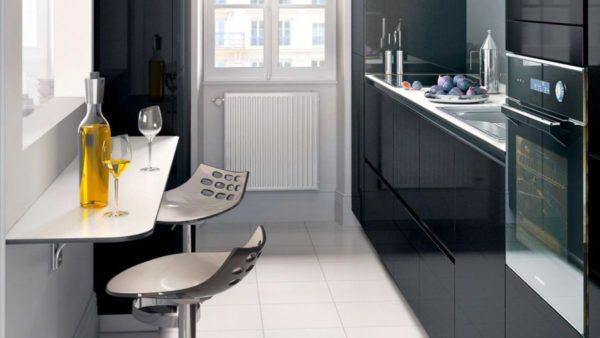 Стол барная стойка на маленькой кухне 1