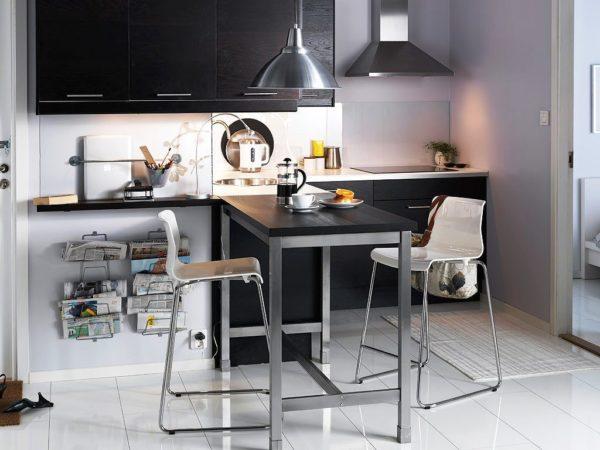 Стол барная стойка на маленькой кухне 2