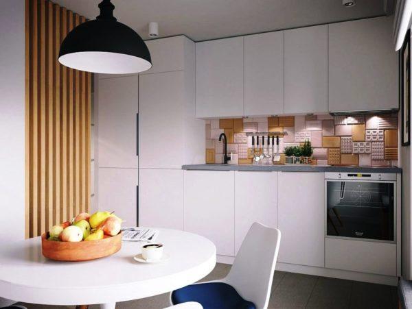 Интерьер малогабаритной кухни в стиле минимализм
