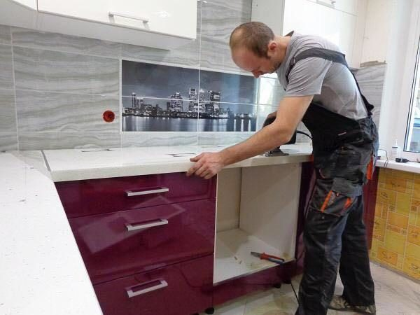 Установка модульной мебели