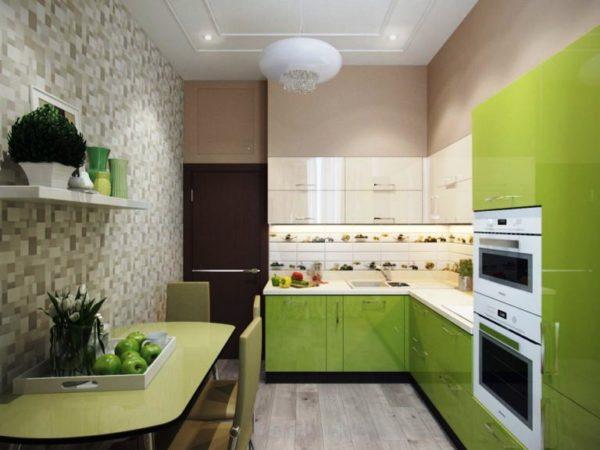Модульная мебель на маленькой кухне в стиле Минимализм