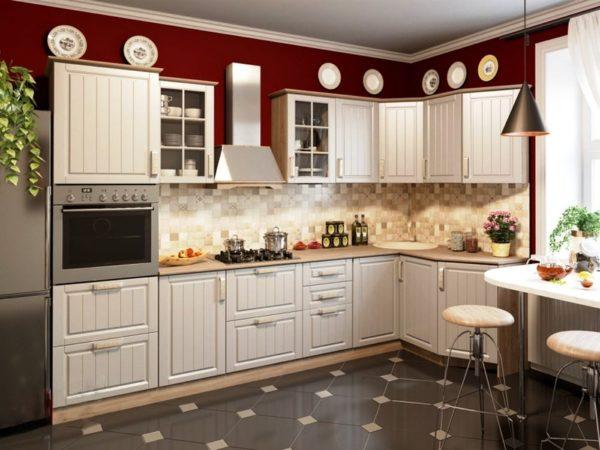 Модульная мебель на малогабаритной кухне в стиле Прованс
