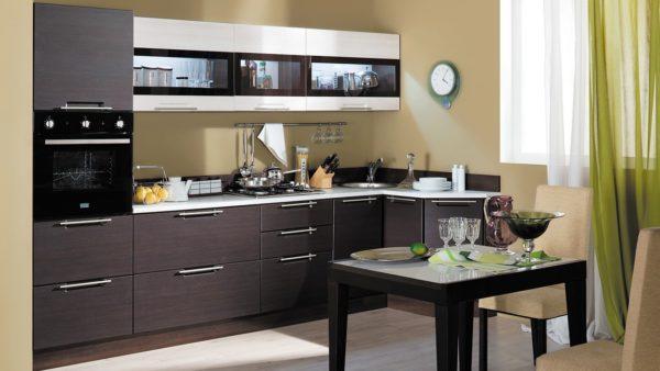 Современная модульная мебель для маленькой кухни 4
