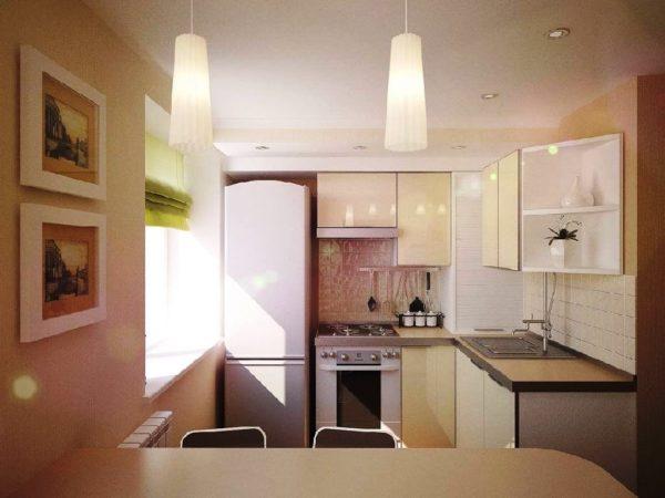Правильное освещение на малогабаритной кухне в хрущевке