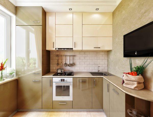 Малогабаритная кухня в стиле минимализм