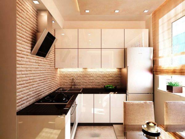 Современный дизайн малогабаритной кухни в хрущевке