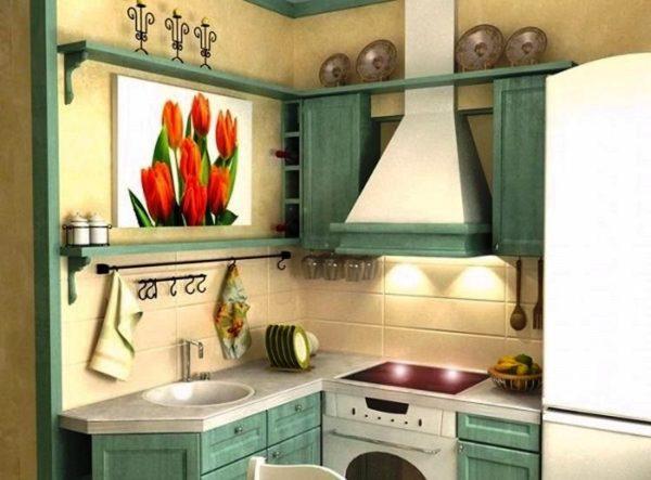 Дизайн кухни в хрущевке в стиле прованс