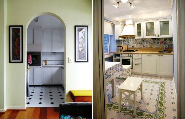 Дизайн кухни в хрущевке 8