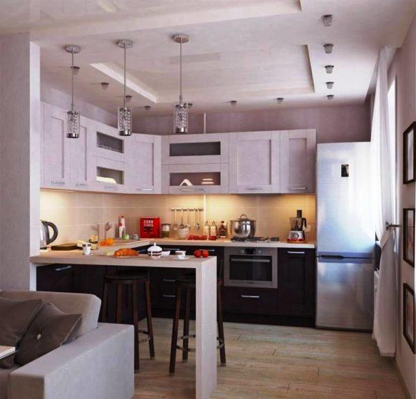 Дизайн кухни в хрущевке 4