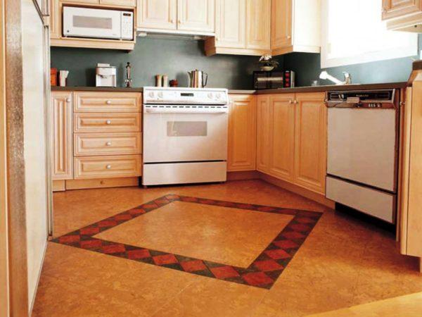 Напольное покрытие на кухню в виде керамической плитки